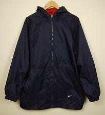 NIKE Vintage Jacket Cagoule Raincoat 90s Blue Swoosh Logo Size M/L