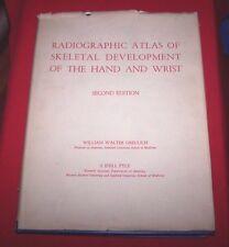 Radiographic Atlas Skeletal Development Hand Wrist  William Gruelich *1959*  VG+