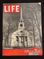 VINTAGE ~ LIFE Magazine  Nov 23 1942  *The Puritan Spirit*   M1812