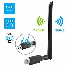 Easyult Clé Wifi, Usb 3.0 Wifi Wireless Adaptateur 1200Mbps Dongle, 2.4/ 5Ghz D