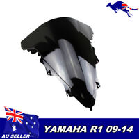 Windshield Windscreen Double Bubble For Yamaha YZFR1 09-14 YZF 1000 R1 Black