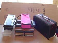 Lot of 6 Vintage CASSETTE MUSIC Tapes STORAGE CASES Nylon woodgrain etc