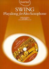 Guest Spot SWING Alto Saxophone Sax Music Book CD JAZZ LEARN PERDIDO SONGS HITS
