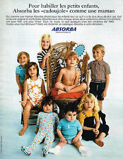 PUBLICITE  1968   ABSORBA  pyjama CADOUJOULE