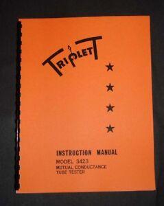 Triplett Tube Tester 3423 Ultimate Manual Tube Data