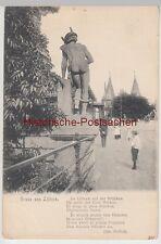 (108468) AK Gruß aus Lübeck, Merkur, Puppenbrücke, Holstentor, vor 1945