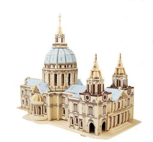 St Paul's Cathedral 3D Jigsaw Wooden Model Construction Kit Toy Puzzle Gift