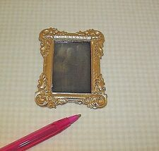 Miniature Ghost Mirror/Gold Frame Halloween: DOLLHOUSE 1/12 scale tiny details