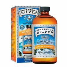 Sovereign Silver Bio - Active Silver Hydrosol for Immune Support -10 ppm - 32oz