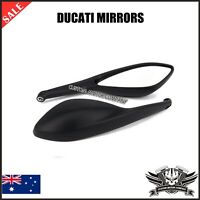 Black Rear Side Mirrors Ducati monster streetfighter 696 796 659 795 1100 848