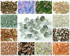 50Pcs 10x17mm Czech Glass Flower Petals Pressed Beads DIY HH6623 CHOOSE COLOR