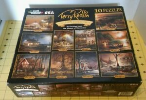 Terry Redlin Exclusive Collection 10 Puzzles in One Box! COMPLETE Poster