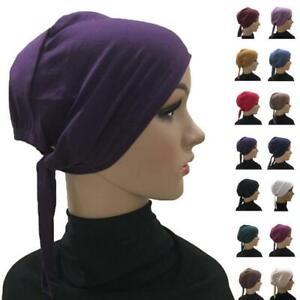 Women Casual Turban Beanie Chemo Bonnet Cap Headwear Muslim Underscarf Inner Hat