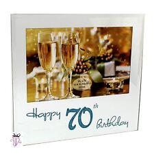 70th Birthday Gift Present 4 x 6 in (10x15cm) Mirror Glass Photo Frame