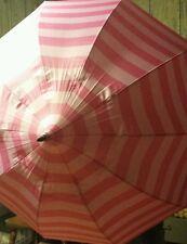 Victoria's Secret pink stripe umbrella rain NEW Limited Edition online exclusive