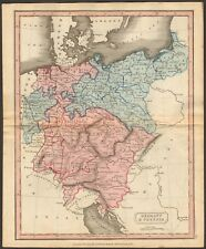 1815 ca ANTIQUE MAP - HAND COLOURED - GERMANY & PRUSSIA