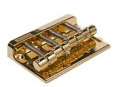 Genuine Gotoh 201B-4 String Hi-Mass Precision Jazz Bass Bridge for Fender Gold