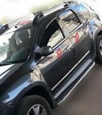 Dacia Duster Chrome Châssis de Fenêtre Bordure Garniture 4 porte INOXYDABLE