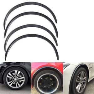 Carbon Style Car Wheel Eyebrow Arches Lips Fender Flares Protector Trim Cover