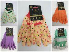 Kent & Stowe Ladies Gardening Gloves Cotton Grip Rigger Seed Watering - Medium