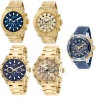 New Invicta Men's Pro-Diver Chronograph Quartz Luminous Hands Gold/Blue Watch