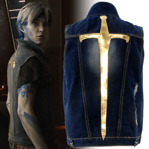 2020New! Movie Ready Player One Parzival Cosplay Costume Denim Vest Daily Coats