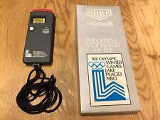 HEUER Microsplit Réf 221 l' Offiziell Chronomètre de l' 80 Olympique Winter Jeux