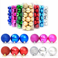 NEW 24pcs Christmas Tree Xmas Balls Decorations Baubles Party Wedding Ornament