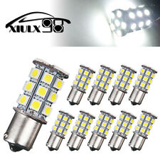 10PCS 1156 BA15S 5050-27SMD White Turn Signal Stop LED Interior Light Bulbs 12V