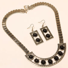 Turkish Necklace Jewelry All Occasion Black Onyx Necklaces Earrings 925 Silver