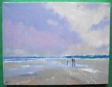 Walking on Norfolk Coast Oil Painting : Francis Barker : Give Fine Art