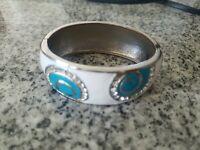 Greek Fashion Silver Cubic Zorconia *From Greece* Cuff Bracelet