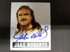 """JAKE """" THE SNAKE """" ROBERTS  2014 LEAF ORIGINALS WRESTLING AUTHENTIC ON CARD AUTO"""