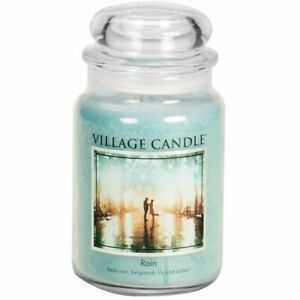 Village Candle Double Wick Large Candle Jar - Rain