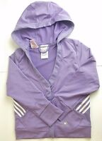 GIRLS ADIDAS  ZIPPED HOODED TRACKSUIT MIX TOP VARIOUS SIZES & COLOURS (A-34)