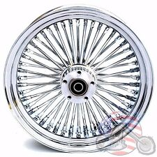 16 3.5 48 Fat Spoke Front Wheel Chrome Rim Single Disc Harley Softail Touring