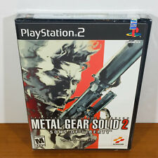 Metal Gear Solid 2: Sons of Liberty (PS2) Rare 1st Print! Black Label! Near-Mint