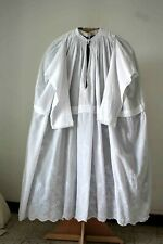 Priest's Alb Embroidery Cornely On Chiffon - Cotton 19th