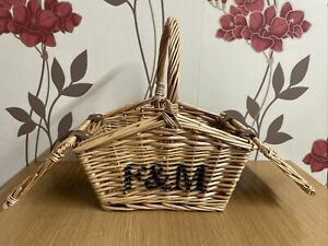 Fortnum & Mason (F&M) Mini Huntsman wicker Picnic hamper basket