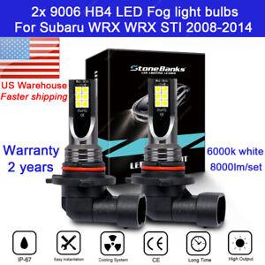 For Subaru WRX STI 2008-2014 9006 HB4 2X Fog light Driving Lamp White LED Bulbs