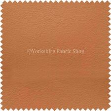 Soft Faux Leather Thick Durable PU Upholstery Fabric Leatherette New Tan Orange