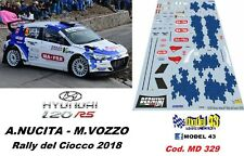 DECAL  1/43 -  HYUNDAI i20  R5  - NUCITA  - Rally  CIOCCO 2018