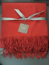 NWT Restoration Hardware 555GR 100% Cashmere Throw Blanket, Garnet  $299.00