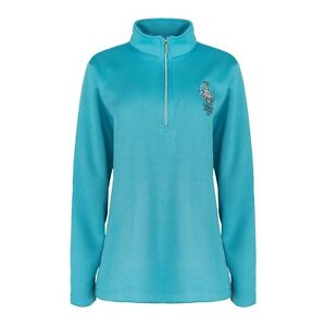 PING WOMENS SENSOR WARM 1/2 ZIP Pullover  SOLHEIM CUP 2019-TRANQUIL BLUE SIZE 16