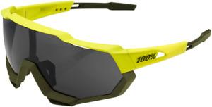 100% Performance Sunglasses / Speedtrap - Neon/Olive