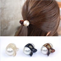 Women Pearl Mini Hair Accessories Hair Claw Barrettes Crystal Hair Clips Gift ~