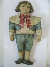 Antique Victorian Cloth Rag Sheet Doll 12 Inches Tall