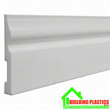 In plastica Battiscopa bianco in plastica 100 mm x 2.5 M metri di lunghezza