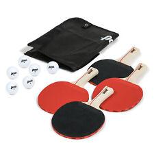 Ping Pong Paddles 4 Player Table Tennis Set Professional Racket Paddle 6 Balls !