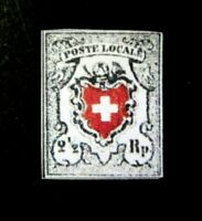 Switzerland 1850 Federal 2 1/2 Black & Red,Sc 4,Zum 14 II $ 43000,  Replica
